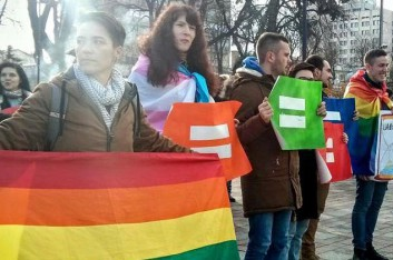 LGBT-rally_before_Ukrainian_Parliament