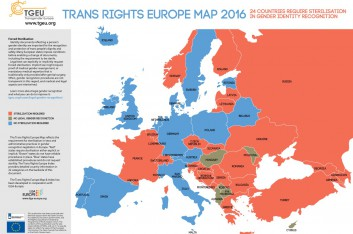 Trans Rights Europe Map 2016
