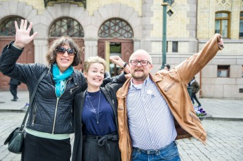 Norwegian activists celebrate the law.