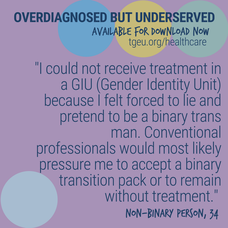 overdiagnosed but underserved   trans health survey