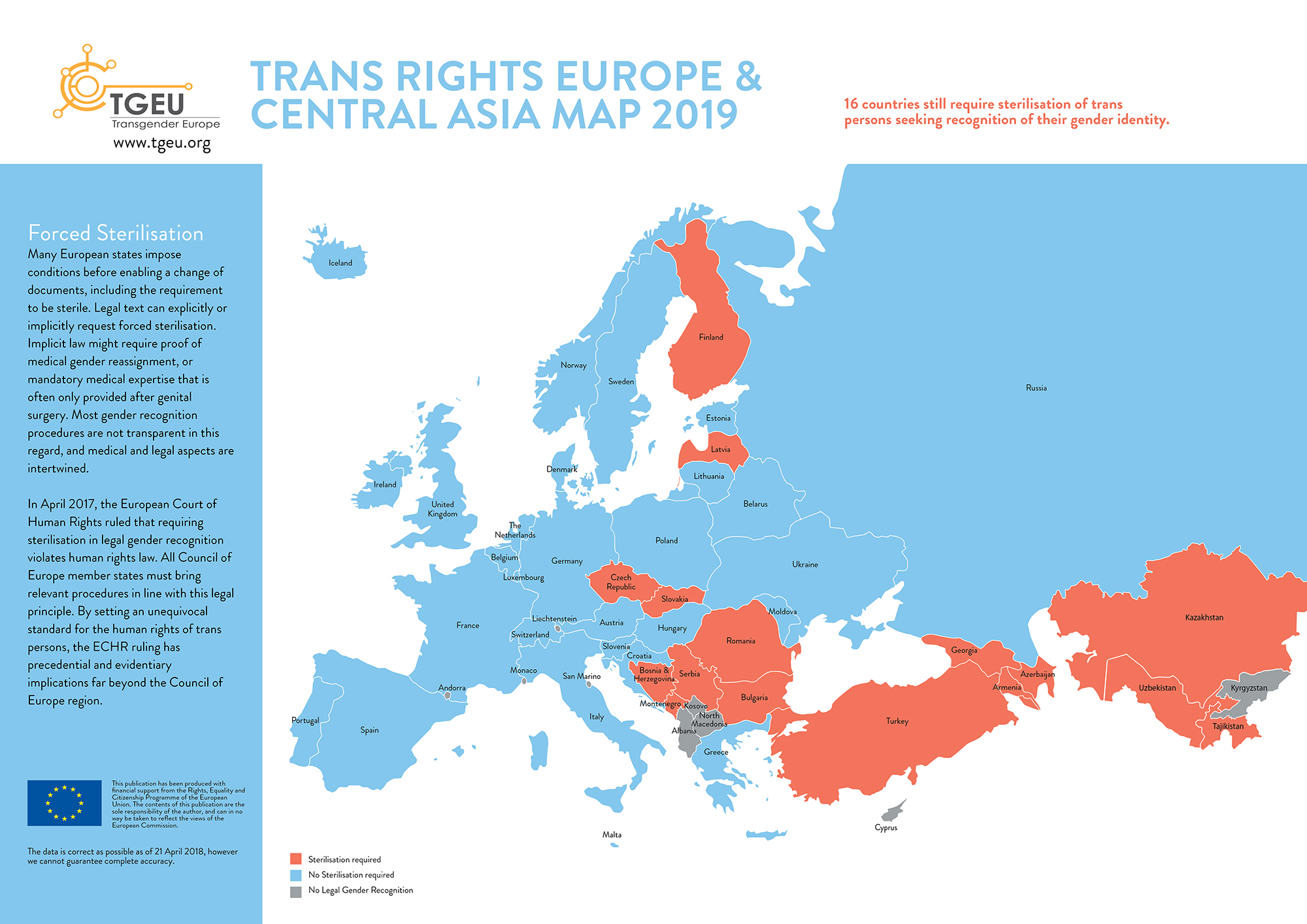Trans Rights Europe & Central Asia Map & Index 2019