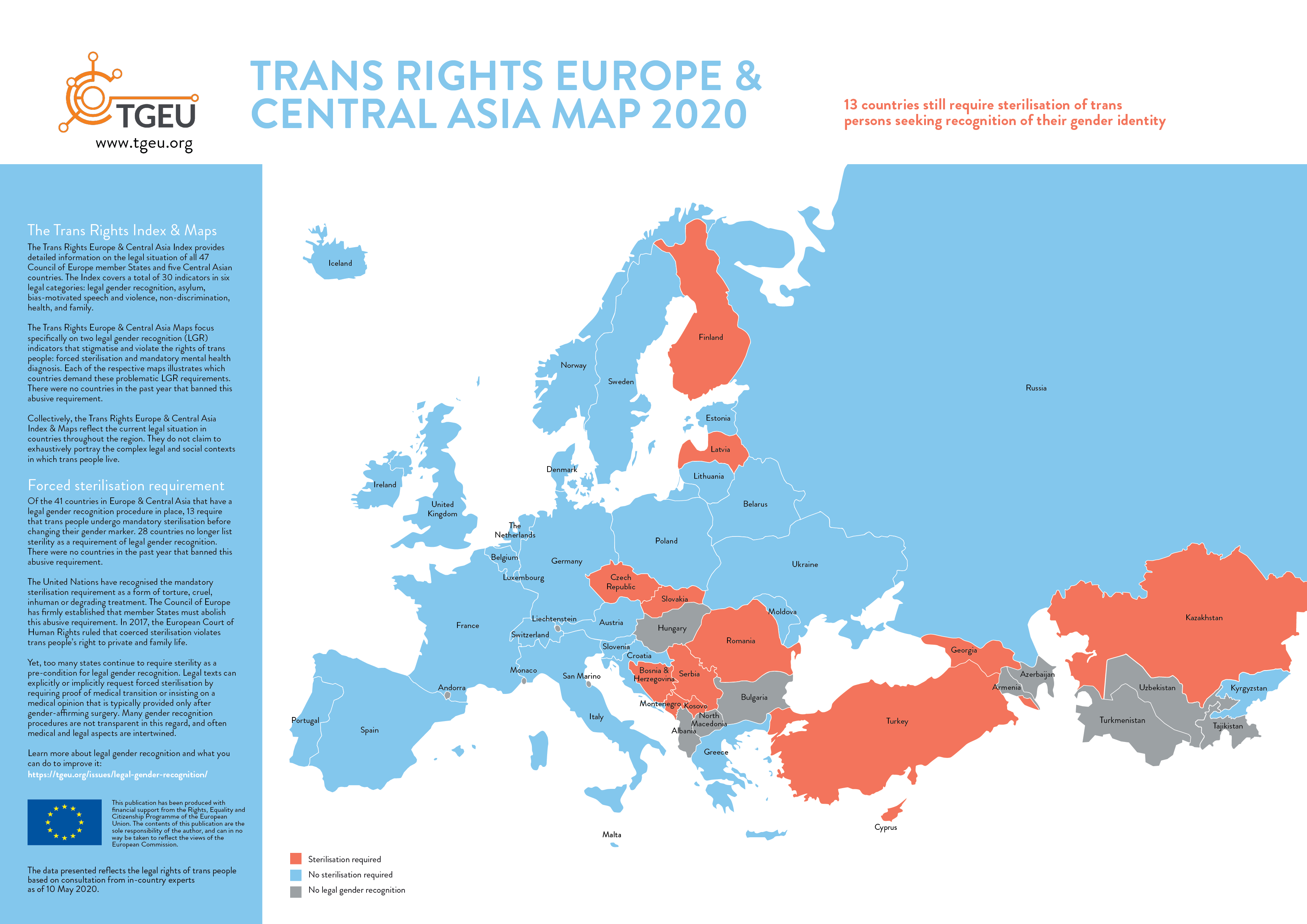 Image of: Trans Rights Europe Central Asia Index 2020 Tgeu