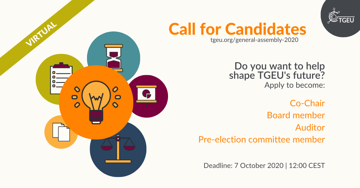 Call for Candidates GA 2020